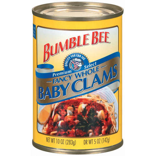Bumble Bee Fancy Whole Baby Clams, 10 oz
