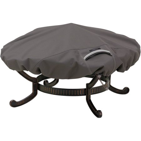 Amazing Classic Accessories Ravenna Large Round Fire Pit Patio Storage Cover Fits Up To 60 Diameter Taupe Uwap Interior Chair Design Uwaporg