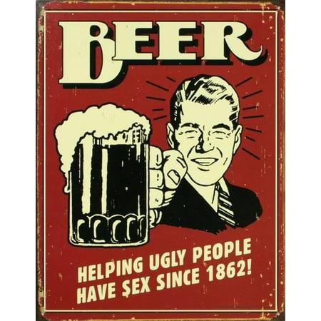 Beer Tin Sign - 12x16 (Beer Sign Wood)