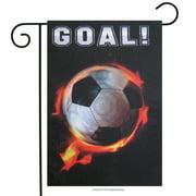 "Soccer Garden Flag Flame Decorative Spring Mini Banner  12.5"" x 18"""