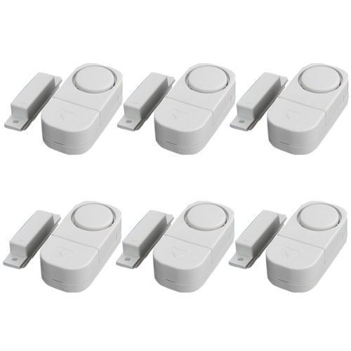 DreamHank Mini Wireless Magnetic Sensor Doors & Windows Security Entry Alarm System(6 Packs)