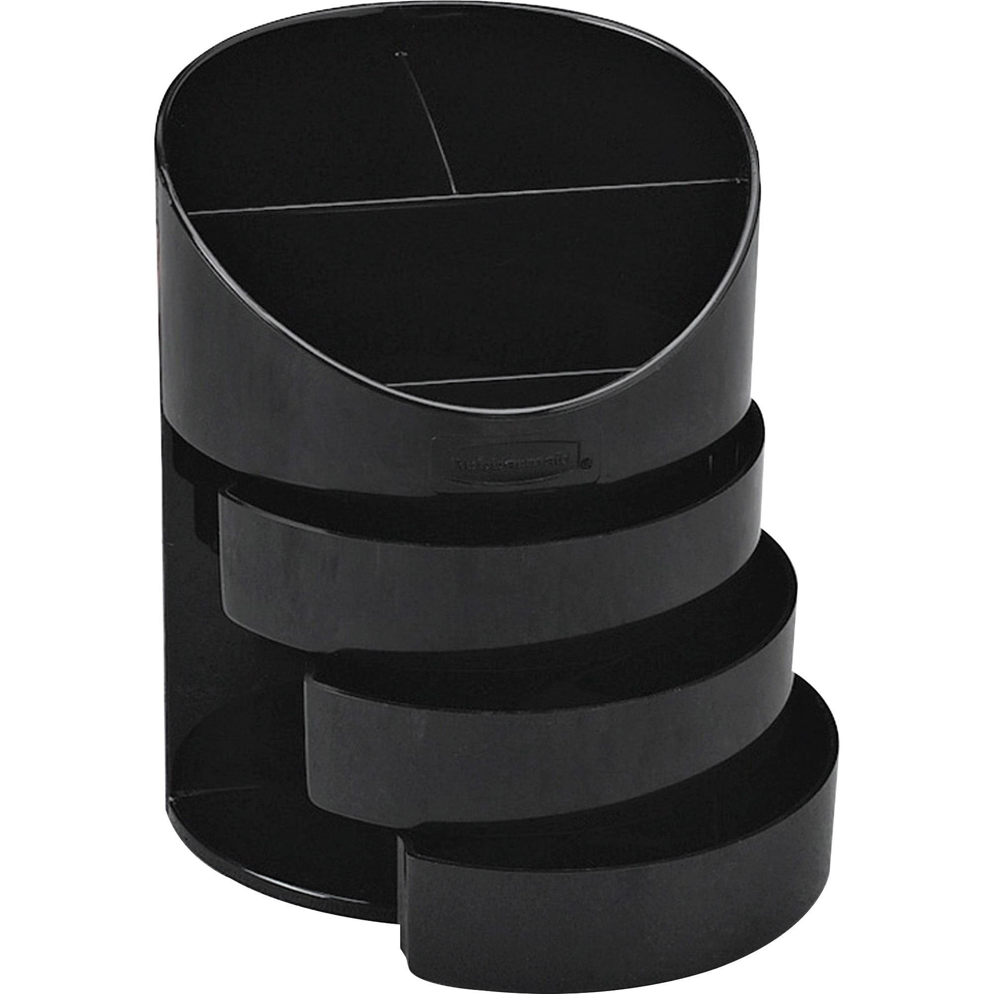 Rubbermaid, RUB14095ROS, 3-Drawer Jumbo Storage Pencil Cups, 1 Each, Black