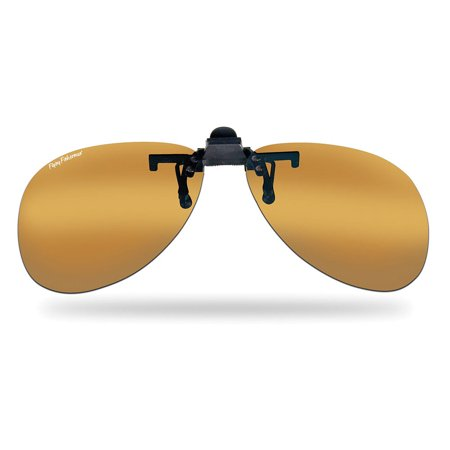 7503A Flip-Up Clip-On/Teardrop Sunglasses in (Gradient Clip On Sunshade Amber)