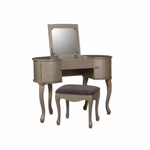 Linon Paloma Vanity Set Including Flip Top Mirror And