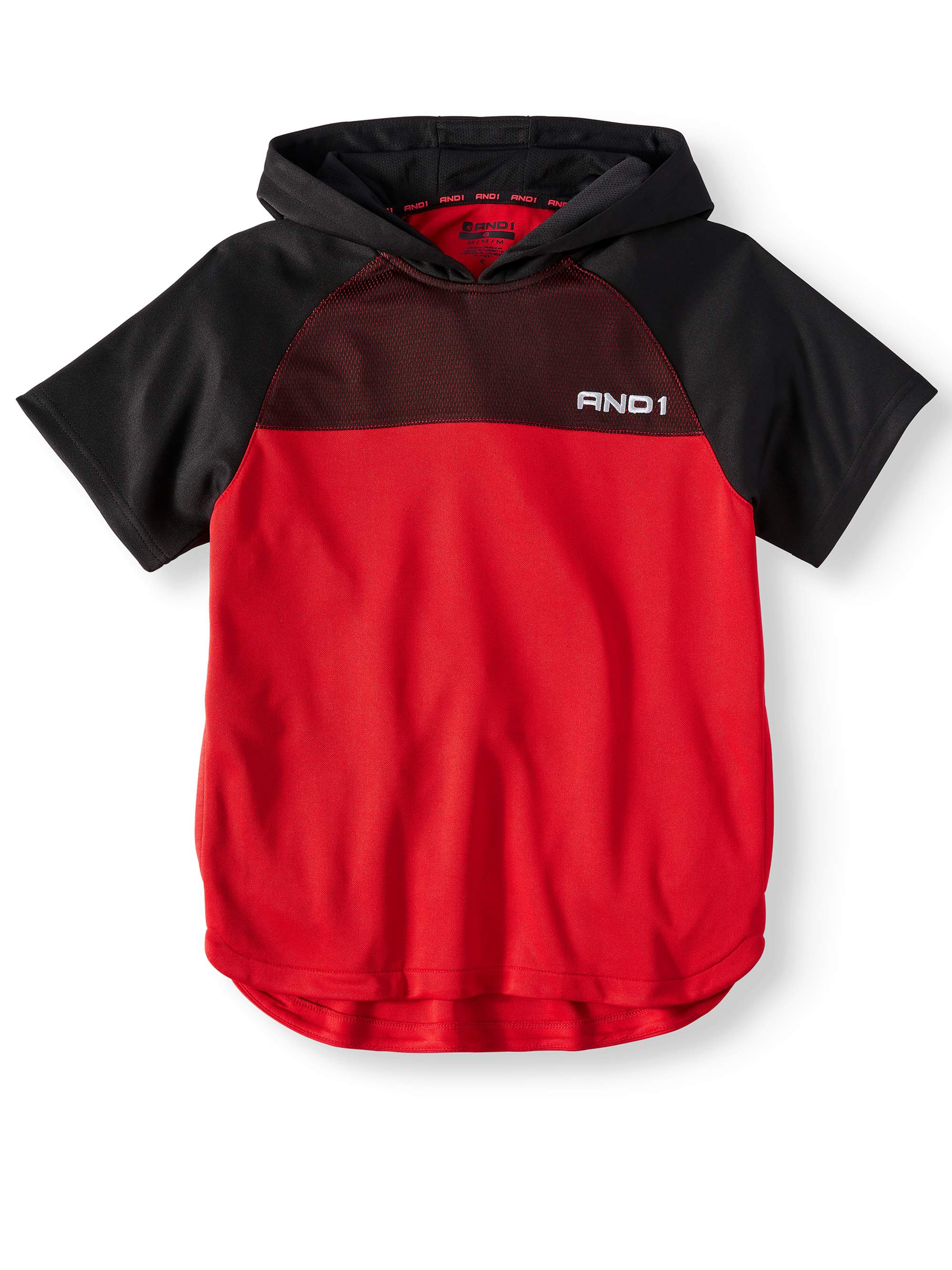 Short Sleeve Basketball Hoodie - Polyester Activewear Sweatshirt (Little Boys & Big Boys)