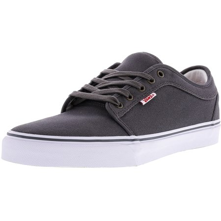 80b6ac224cee Vans - Vans Men s Chukka Low Pewter   White Red Ankle-High Canvas  Skateboarding Shoe - 12M - Walmart.com