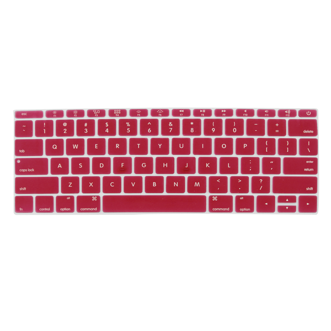 "Laptop Rubber Protective Shell Keyboard Skin Cover Red for MacBook 12"" - image 2 de 2"