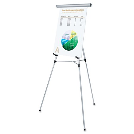 Universal 3-Leg Telescoping Easel with Pad Retainer, Adjusts 34
