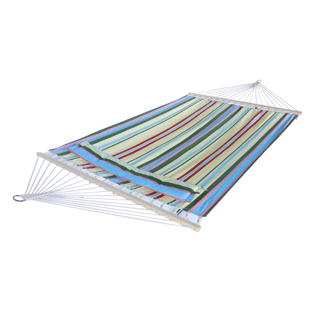 Hammock Sky for Outdoor, Green Stylish Printing Style Hammock for Backyard, Porch, Indoor, Beach, Polyester & Cotton Portable Camping Hammock