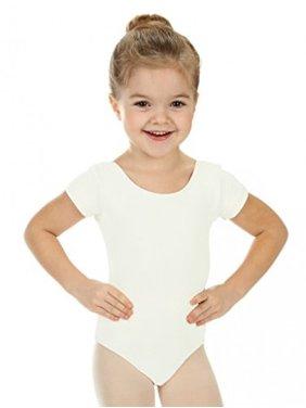 Girls' Team Basics Short Sleeve Leotard Nude (size 4-6 )