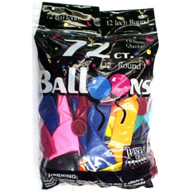 Tablemate Products 127217 72 Count Assorted Color Balloon