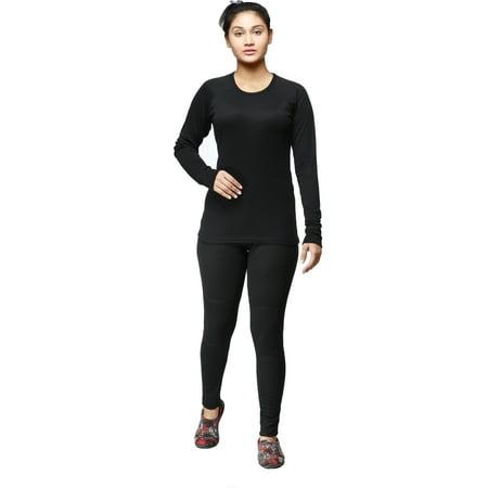 Ladies Winter Long Johns 2-Piece thermal Underwear (Best Lightweight Thermal Underwear)
