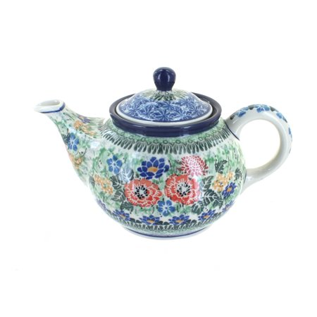 Polish Pottery Royal Gardens Small Teapot