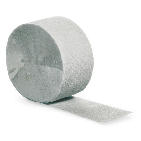 Touch of Color Crepe Streamer 81 Ft, Shimmering Silver, 1 Ct - Crepe Paper Rolls