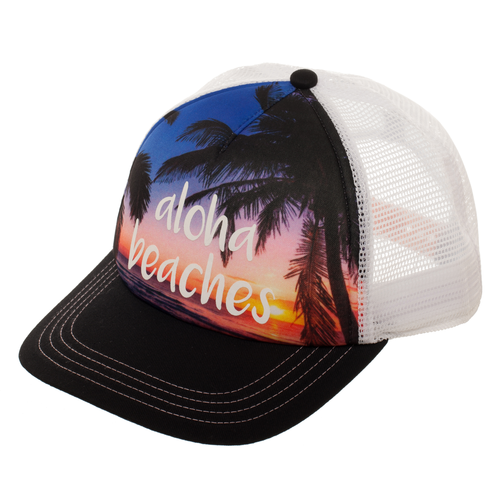 """No Boundaries Women's """"Aloha Beaches"""" Snapback Hat with Print Foam Front Panel and Mesh Crown by Generic"""