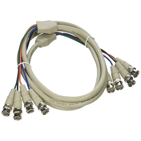 100569 6-Feet 4 BNC Male/4 BNC Male, The BNC connector is commonly found on professional video connections By