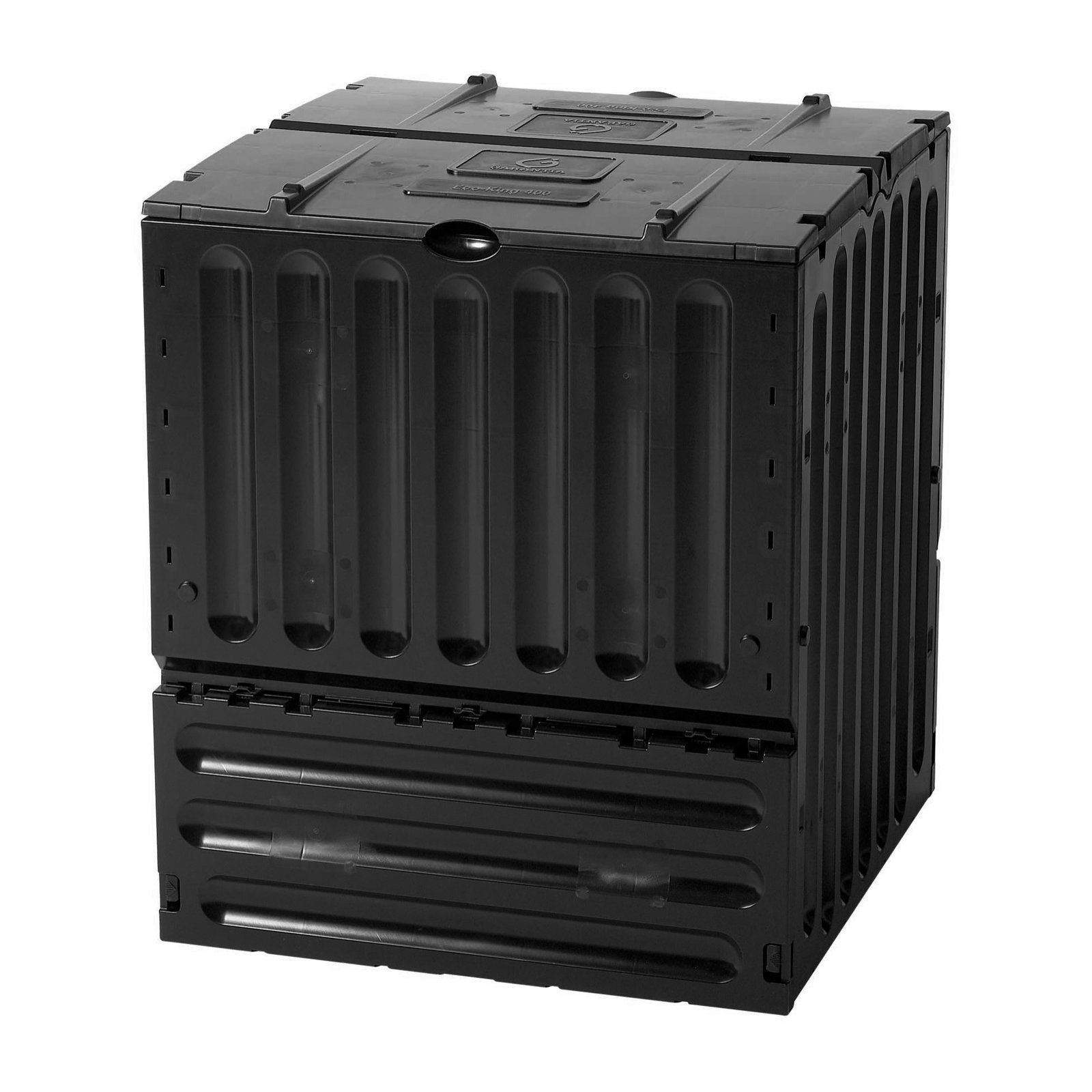 Eco King 105 Gallon Recycled Plastic Compost Bin Black by TDI Brands