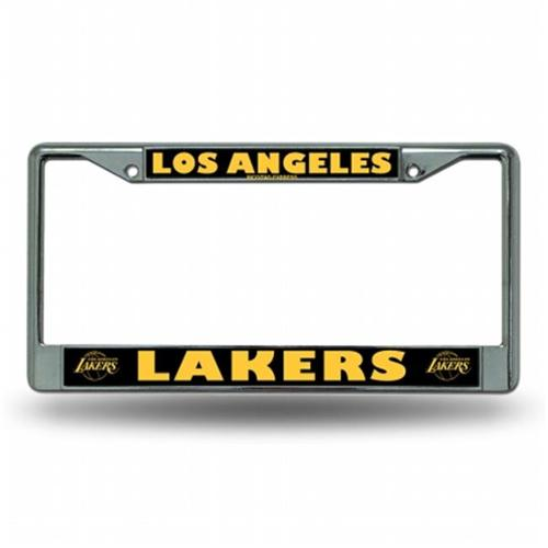 Los Angeles Lakers Chrome License Plate Frame  Free Screw Caps with this Frame