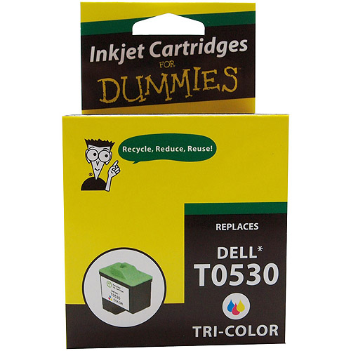 For Dummies Remanufactured Dell T0530 Tri-Color Cartridge Series 1