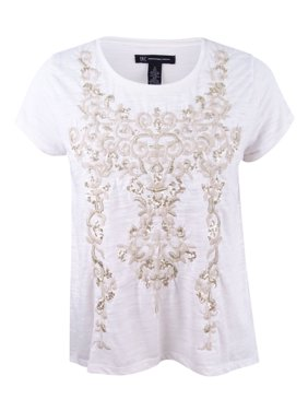 2f7a680ca14e8d Product Image Inc International Concepts Women s Embroidered Scoop Tee Top  (L