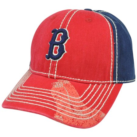 Red Boston Wash - MLB Boston Red Sox Pro Stitch American Needle Vintage Washed Cotton Hat Cap