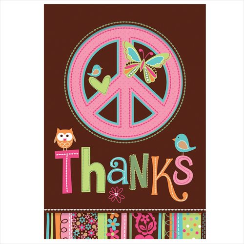 Hippie Chick Thank You Cards w/ Env. (8ct)