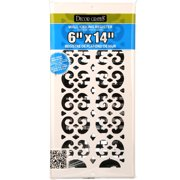 Decor Grates Scroll Wall/Ceiling Register, Painted White, 6