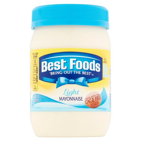 (2 Pack) Best Foods Light Mayonnaise, 15 oz