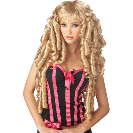 Long Blonde Wig Curly Ringlet Wig Storybook Fairytale Princess Costume Wig