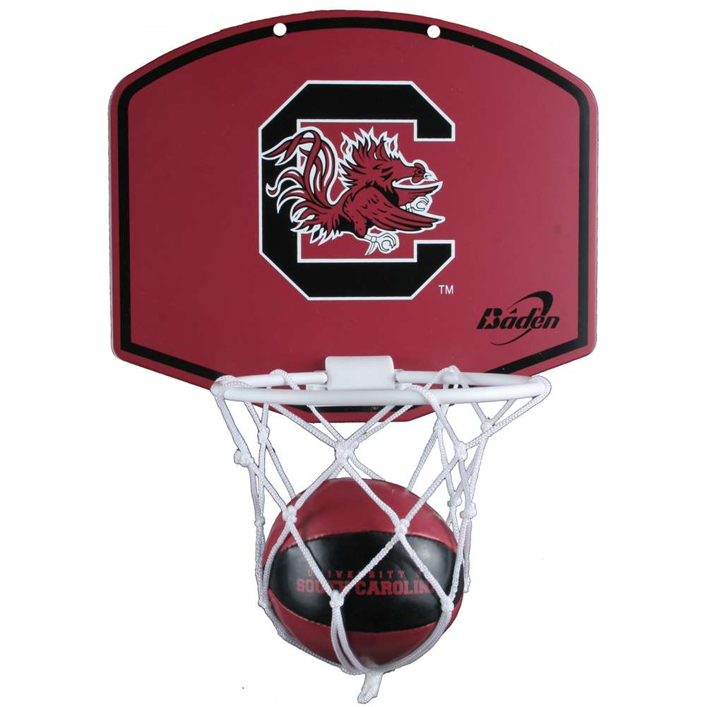South Carolina Gamecocks Mini Basketball And Hoop Set