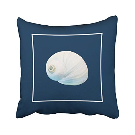WinHome Square Throw Pillow Covers Nautical Popular Theme Conch Simple Pattern Pillowcases Polyester 18 X 18 Inch With Hidden Zipper Home Sofa Cushion Decorative Pillowcase](Popular Themes)