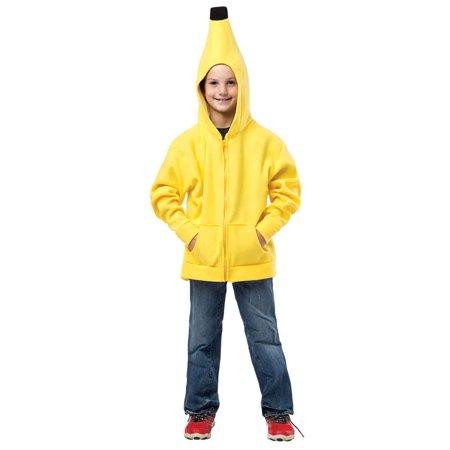 Banana Hoodie Child Halloween Costume, One Size, (7-10)