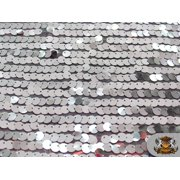 """Sequin Micro Paillette Fabric SILVER / 58"""" Wide / Sold by the yard"""