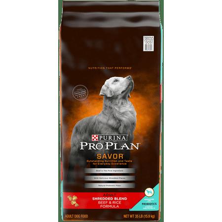 Purina Pro Plan SAVOR Shredded Blend Beef & Rice Formula Adult Dry Dog Food - 35 lb.
