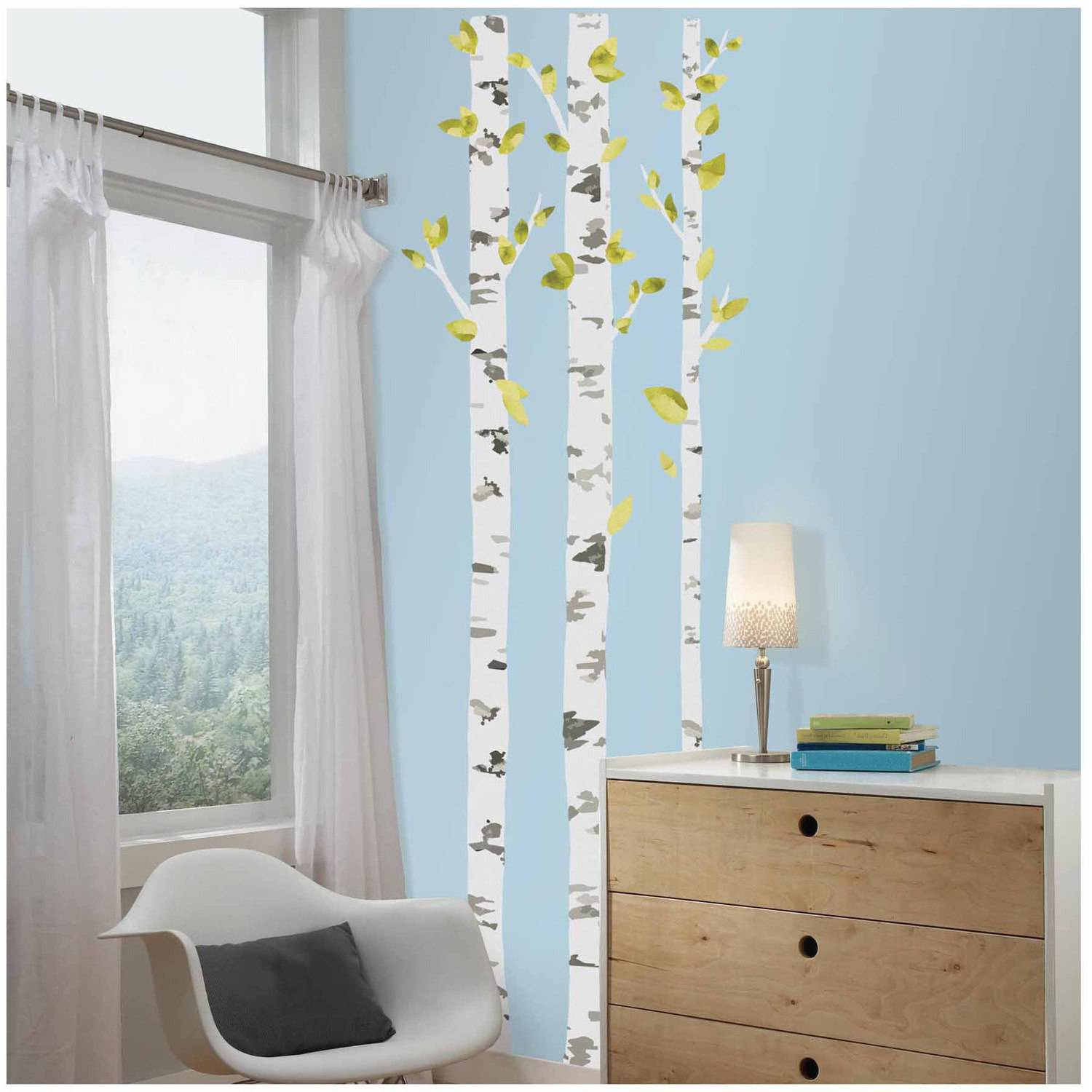 Birch Trees Peel and Stick Giant Wall Decals by RoomMates