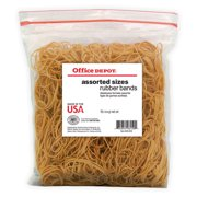 Office Depot Rubber Bands, #54, Assorted Sizes, 1 Lb. Bag, 2454408