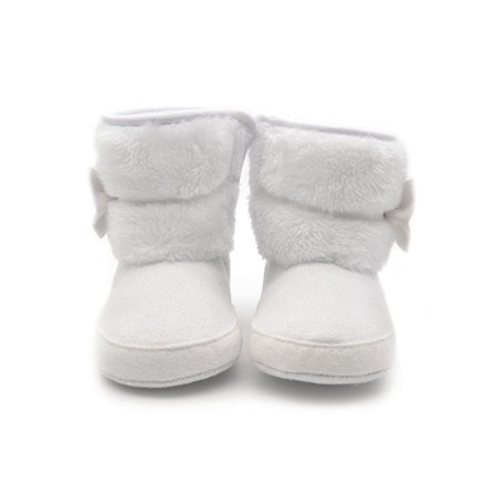 Babula Baby Infant Girls Warm Snow Boots Winter Crib Shoes 0-18M