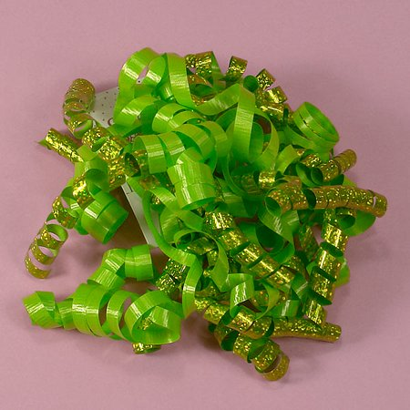 Kiwi Green Decorative 5 inch Crimped Curly Ribbon Gift Bows, 24 pack - Curly Ribbon