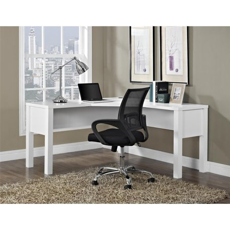 Ameriwood Home Princeton L-Shaped Desk, White