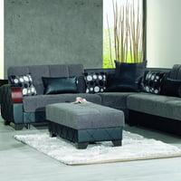 Molina Fabric Upholstery Modern Ottoman