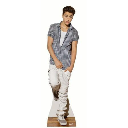 Star Cutouts Justin Bieber Check Shirt Cardboard Cutout Life Size Standup - Justin Bieber Fan Halloween Costumes