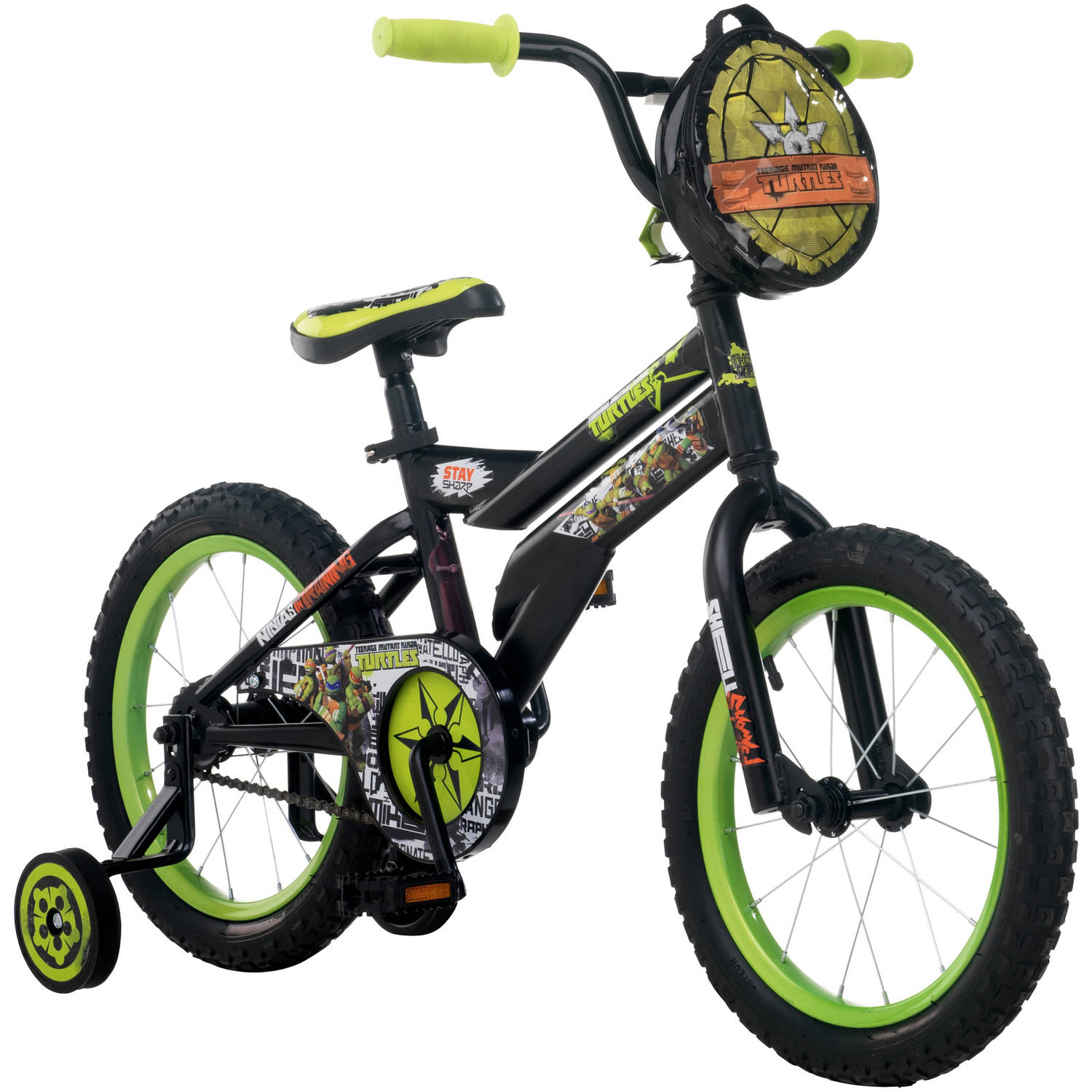 "16"" Nickelodeon Teenage Mutant Ninja Turtles Boys' Bike, Black"