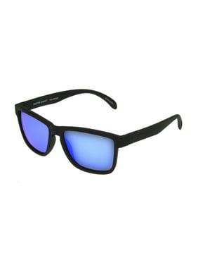 4689537c1 Product Image Foster Grant Men's Black Polarized Mirrored Retro Sunglasses  LL05