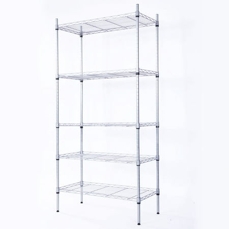 Top Knobs 5 Shelf Wire Shelving Unit Garage Wire Shelf Metal Large Storage Shelves Heavy Duty Height Adjustable Utility Commercial Grade Steel Layer Shelf Rack Organizer -14