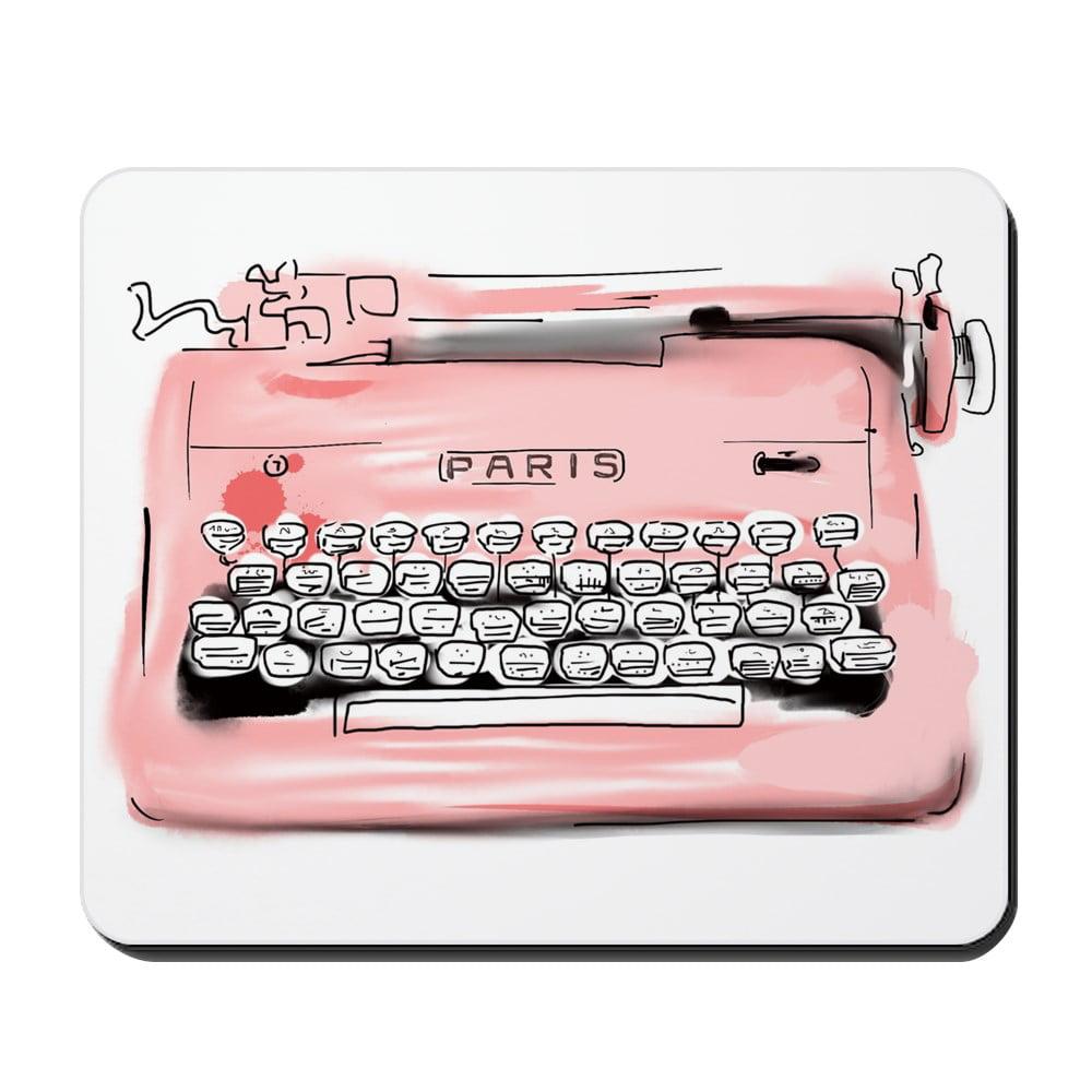 CafePress - Paris Typewriter - Non-slip Rubber Mousepad, Gaming Mouse Pad