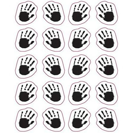 Handprints Shape Stickers