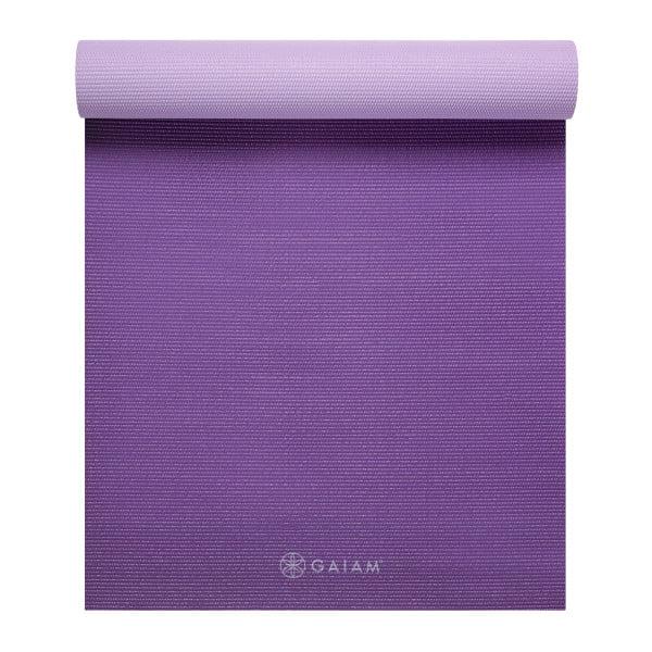 Gaiam Premium 2 Color Yoga Mat Plum Jam 5mm Walmart Com Walmart Com
