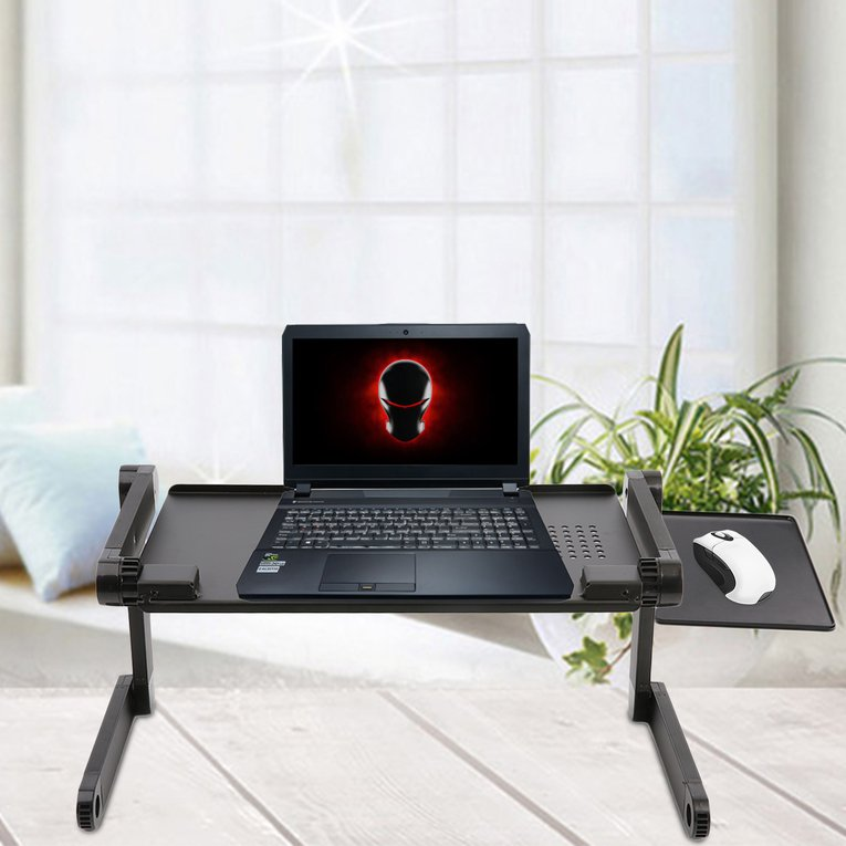 Computer Desk Ergonomic Adjustable Foldable Laptop Desk Table N Type Stand Portable Bed Tray