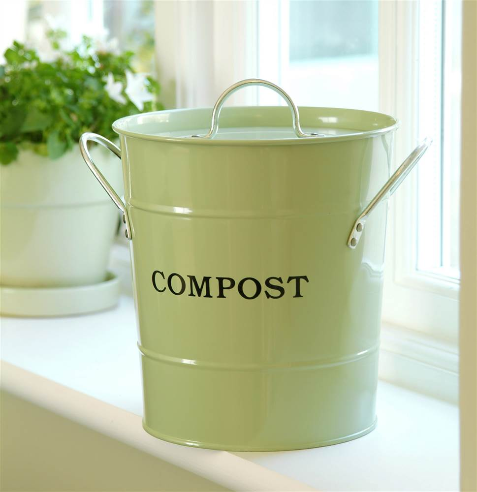 2 in 1 Kitchen Bucket in Soft Green