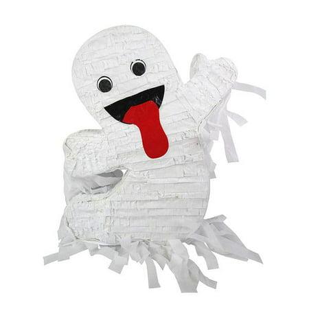 Diy Halloween Pinatas (Standard Happy Halloween Ghost Pinata, White, 16in x)